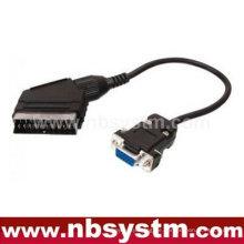 Scart-Stecker auf 15pin VGA-Kabel 30cm