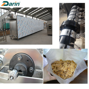Saludable y crujiente escamas de maíz Snack Food Machinery