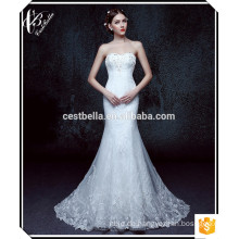 Neueste Art Heiße verkaufende Körper-Form weg vom Schulter-Spitze-eleganten Nixe-Hochzeits-Kleid
