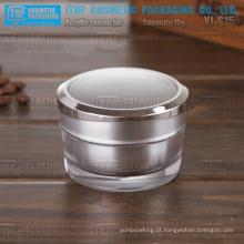 YJ-S15 15g nobre e útil do atarraxamento redonda 15g matt prateado frasco plástico