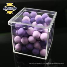Caja de almacenamiento acrílica clara y coloreada de la exhibición del tamaño personalizado de alta calidad con la tapa