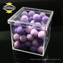 High quality customized size clear and colored acrylic display storage box with lid