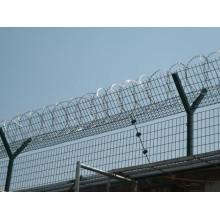 Высокая прочность оцинкованной бритвы Колючая проволока Тюрьма Тюремная ограда