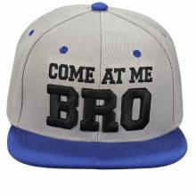Chapeau acrylique de Snapback de panneau de la promotion 6 avec la broderie faite sur commande