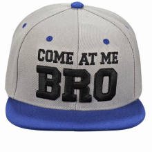 Promotion 6 Panel Acrylic Snapback Cap with Custom Embroidery