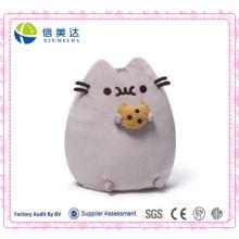 Nette weiche kuschelige Pusheen Plüsch Katze mit Plätzchen Kissen Spielzeug