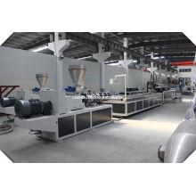 Chaîne de production de panneau décoratif de mur de bardage de PVC