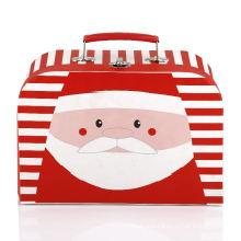 wholesale carry handle kraft christmas cardboard paper packaging suitcase gift box