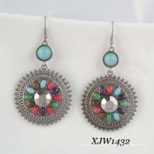 Fashion Earring/Gem Earring/Bohemian Earring (XJW1432)