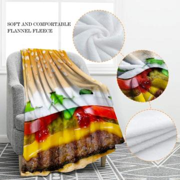 Serviettes rondes hamburger couverture en flanelle douce et confortable