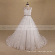 Charming A-line Long Train Wedding Gown With Exquisite Beads Lace
