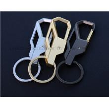 Corrente da porta-chaves do Keyring do metal do logotipo do OEM para o presente do negócio