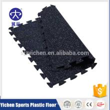 Interlocking EPDM rubber mat for fitness center