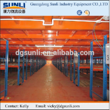 Estante del almacén de acero plataforma seccional