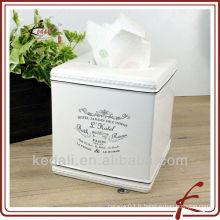 Porte-serviette en céramique en céramique en céramique en Chine Factory Tissue Box