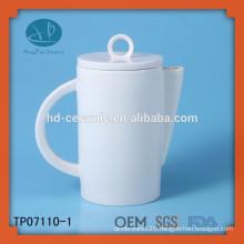 eco-friendly ceramic tea pot supplier,hotel usage tea pot,white ceramic teapot personalized