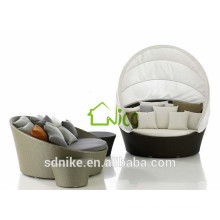 outdoor rattan wicker round rattan daybed