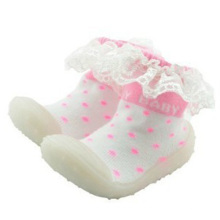 Chaussette en béton petite femme en caoutchouc chaussette chaussettes en lacets pour fille