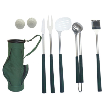 6pcs professionnel golf bbq tool set