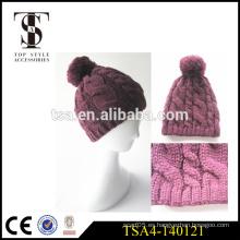 Diseñar su propio sombrero de invierno hermosas señoras gruesa invierno sombrero hecho en china