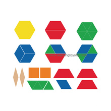 Plastic Pattern Blocks for Fraction Learning (K003)