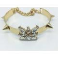 Bracelet en plaqué or et résine (XBL13557)