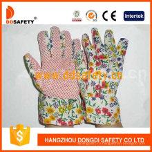 Дизайн цветок обратно с розовыми точками садоводства перчатки Dgb105