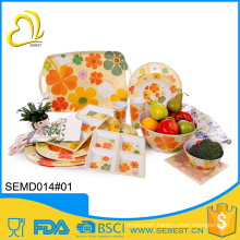 best selling products autumn design melamine bright colored dinnerware