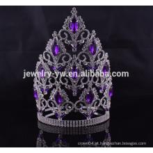Acessórios de cabelo grosso china big rhinestone pageant crowns