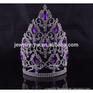 hair accessories wholesale china big rhinestone pageant crowns