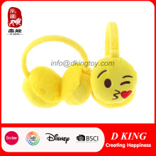 Funny emoción Emoji Cartoon Plush Earmuffs juguete para niños / adultos