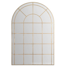 Горячая рука продаж кованый металл закончил в старину золото Рамка стены зеркало
