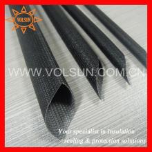 Черный стеклоткани кремния резиновый оптом тесьма рукав