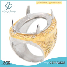 High quality engraved stainless steel finger indonesia rings for men's wedding hot sale