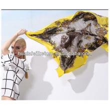 Square scarf twill silk by horse design