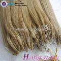 Alibaba Express cabello humano brasileño doble dibujado 11A grado 1g / strand micro loop anillo de extensión del pelo