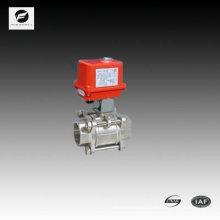 D65 Válvula de esfera de aço inoxidável de 2,5 polegadas com atuador elétrico 220V / 50HZ para tratamento de água