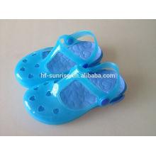 Los zapatos al por mayor baratos plásticos de los cabritos zapatos divertidos de los cabritos los zapatos de los cabritos fabrica China