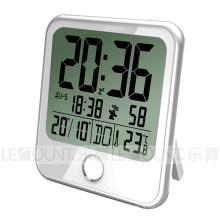 Grande horloge calendrier bureautique LCD avec 8 langues Affichage jour de la semaine (CL159)