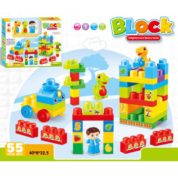 DIY bloques de plástico de construcción de los niños de juguete de bloques educativos (h9792024)