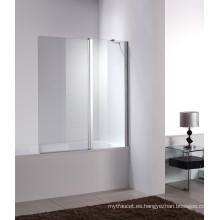 Cuarto de baño de vidrio templado plegable pantallas de la bañera (W3)