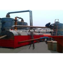 Gestión de residuos urbanos, máquina de carbonización de polvo vivo / vital / planta / equipo / unidad / sistema