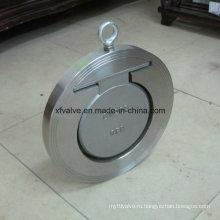Обратный клапан с однодисковым валиком из нержавеющей стали