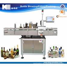 Máquina automática de etiquetas adhesivas para botellas redondas
