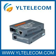 20/40/60 / 80KM Convertisseur de média à fibres optiques à fibre unique monomode
