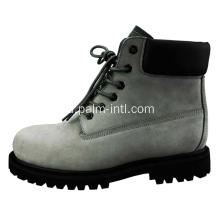 Suede Leather / Rubber Outsole Safety Boots