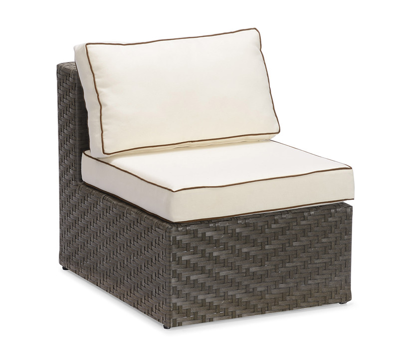 S0214 Wicker Armless Chair