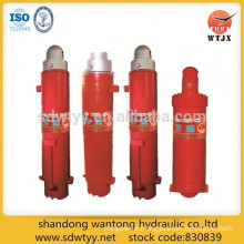 single and double telescopic column hydraulic cylinder support