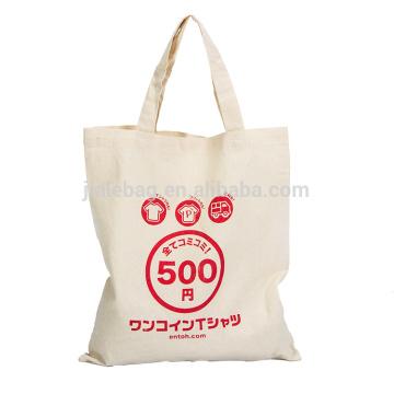 Bolso modificado para requisitos particulares promocional del algodón de la lona, la bolsa de asas de encargo de la lona, bolso de compras plegable del algodón