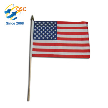 cheapest of polyester American hand flag International